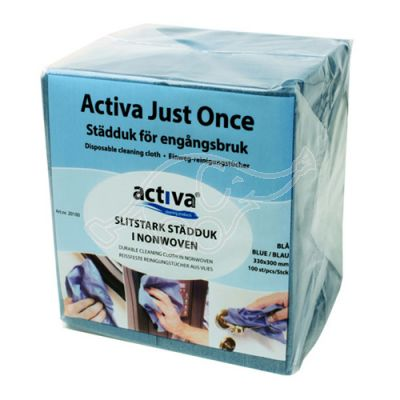 Activa Just Once cloth blue 33x33cm 100-pack