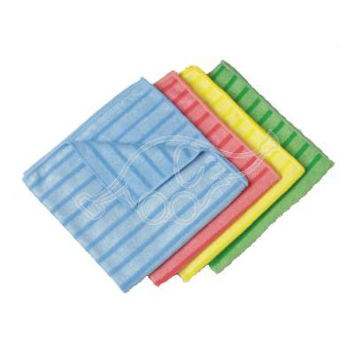 3M Microfibre cloth striped 40x40cm blue