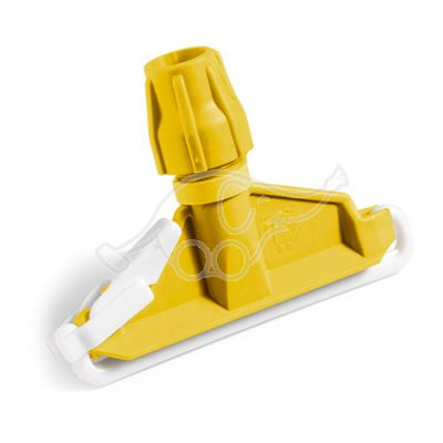 Plastic mop clamp yellow