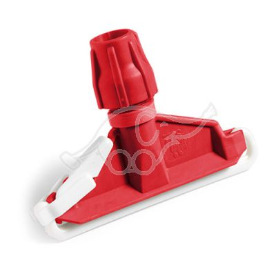 Plastic mop clamp red