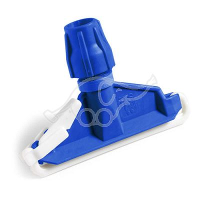 Plastic mop clamp blue