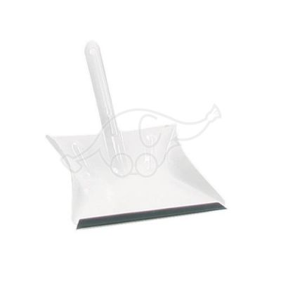 Metal dustpan with PVC-side
