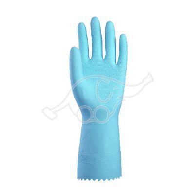 GloveNova 45  blue latex + velour 7-7,5/medium