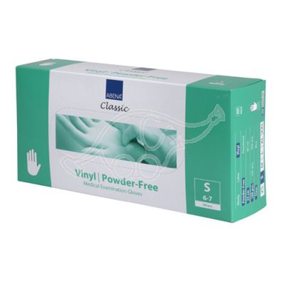 Abena vinyl glove powderfree S/6-7 100 pc/pack, permanent