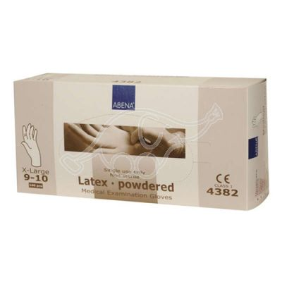 Abena latex glove XL/9-10 powdered 100pcs/pack