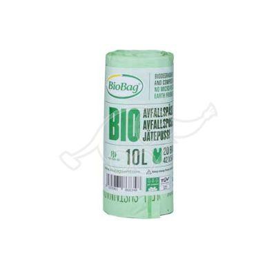 Prügikott BioBag komposteeritav 10L 20 tk/rl 42x54cm 15mic