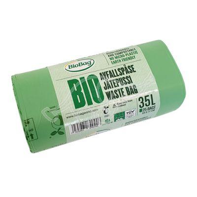 Prügikott BioBag komposteeritav 35L 25 tk/rl 58x77cm 23mic
