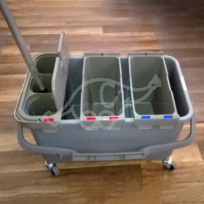 Koristuskäru Eroy TTS 28L 3-osaline WC-harjaga