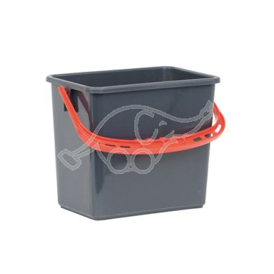 Bucket with Red handle 6L