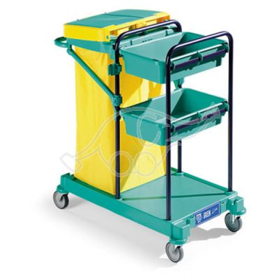 Service trolley Green 100 53x85x102 blue