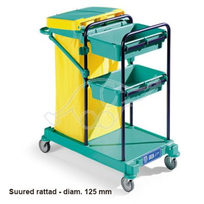 Service trolley Green 100 53x85x102 blue, 125mm wheels