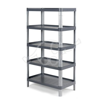 Grey 3805E shelf with 5 shelves