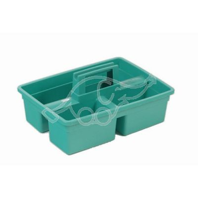 Plastic tool rack green
