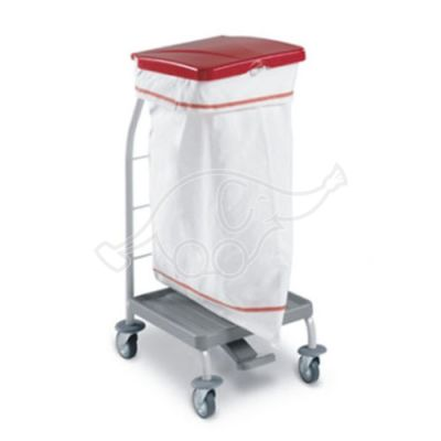 Linen trolley Dust 4161 - with pedal and lid 70L