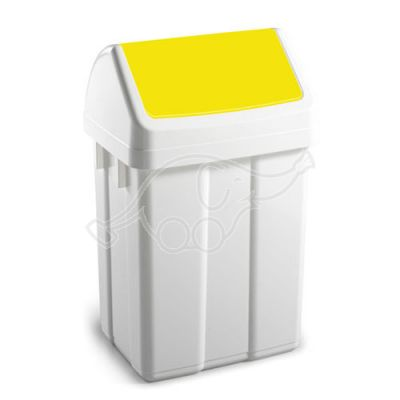 Dust bin Max lt 25 yellow cover