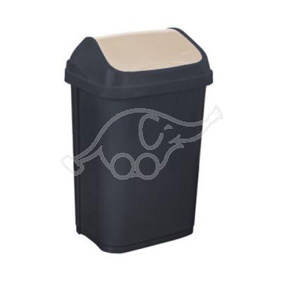 Dust bin 50L swing lid, grey