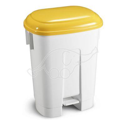DERBY bin 60 lt with yellow lid