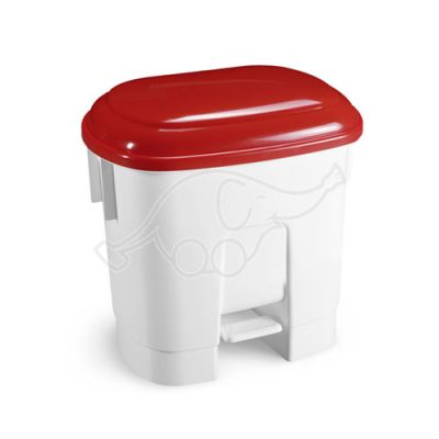Derby bin 30 lt. white and red lid
