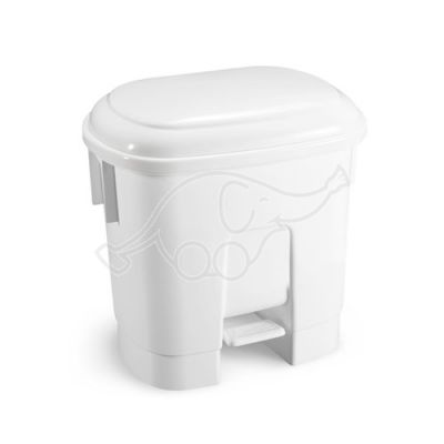 Derby 2x15l bin with pedal and white lid