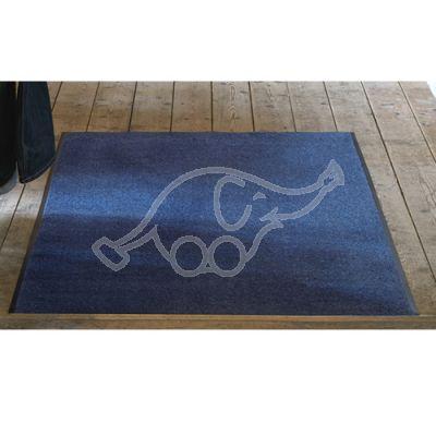 Entrance carpet Solett 90x150cm blue