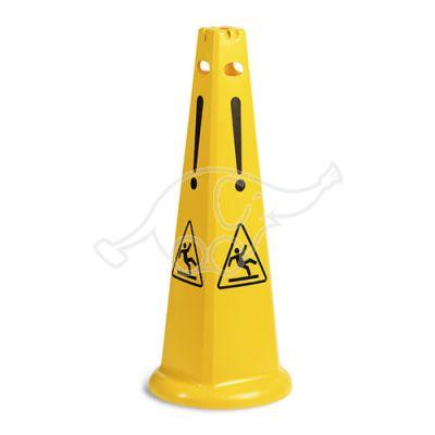 Pyramidal wet floor sign