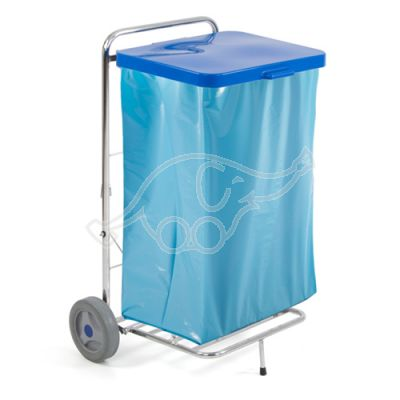 Trolley Tecno 61 for outdoor with blue lid