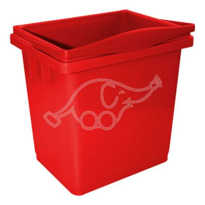 Bucket lt. 4 red with integrated handle