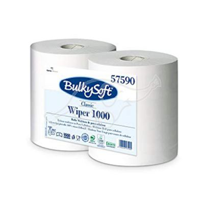 BulkySoft Wiper 1000m tööstuslik rullrätik 1x valge