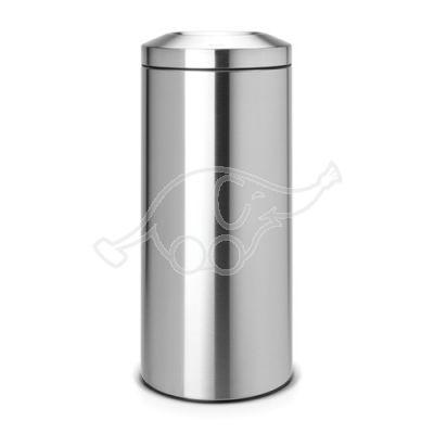 Dust bin 30 flameguard matt steel