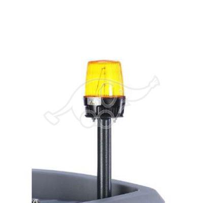 Flashlight on rod, yellow