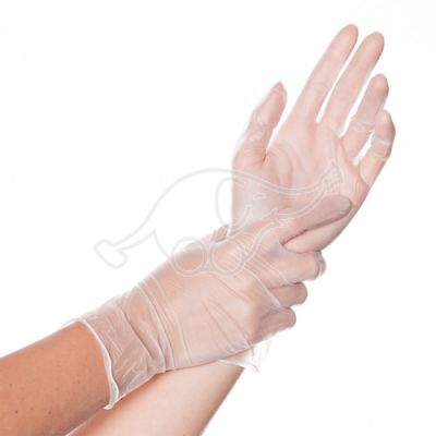 Vinyl  glove Ideal powderrfree   100pcs L white