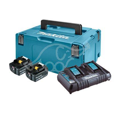 Makita Powerpack charger + 18V 2 x 5,0 Ah