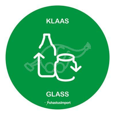 Sorteerimise kleebis ümar, KLAAS, roheline