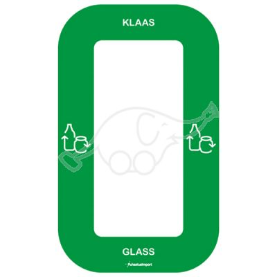 Waste sorting label Bin Multi KLAAS, green