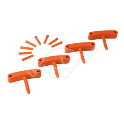 Hook x 4 for 1017 and 1018 orange