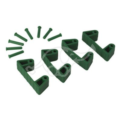 Rubber Clip x 4 for 1017 and 1018, 120 mm green