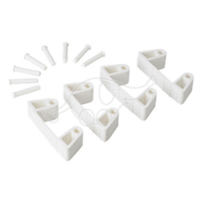 Rubber Clip x 4 for 1017 and 1018, 120 mm white
