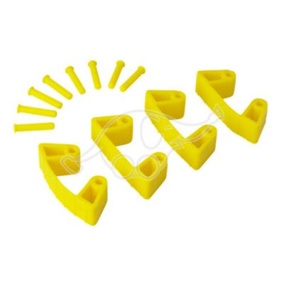 Rubber Clip x 4 for 1017 and 1018, 120 mm yellow