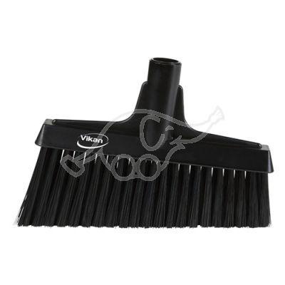 Lobby Broom, Angle Cut, 260mm Medium, Black