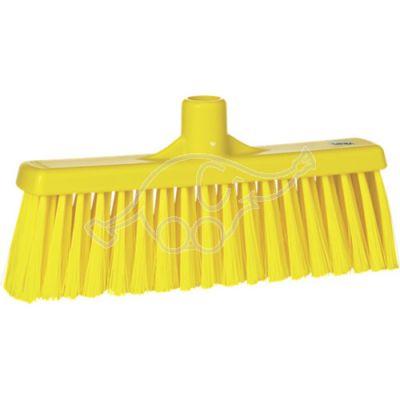 Broom with straight neck 310mm medium yellow