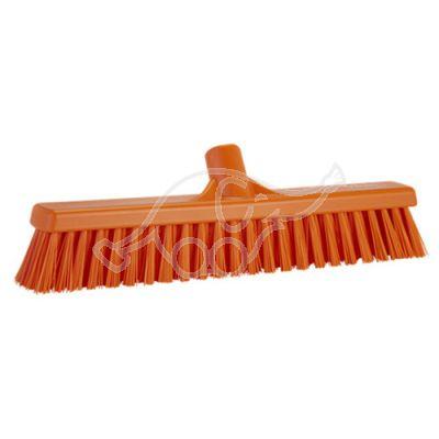 Soft/Stiff floor broom 410mm orange