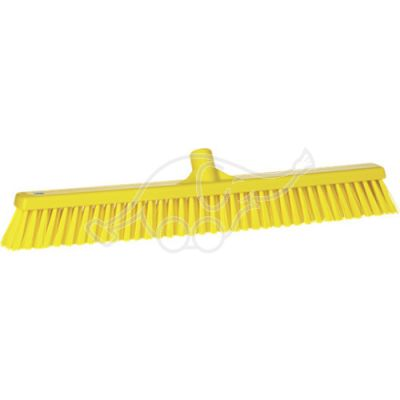 Soft/stiff floor broom 610mm yellow