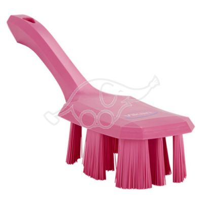 Vikan UST käsipesuhari lühike vars 260mm, tugev,roosa