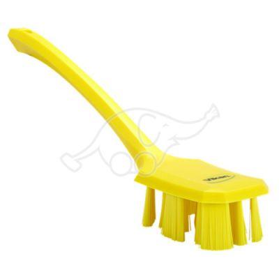 Vikan UST käsipesuhari pikk vars 395mm, tugev, kollane