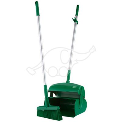 Vikan Dustpan set, closeable with broom, 370 mm, green
