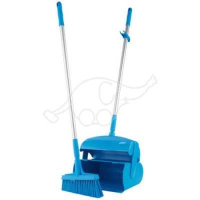 Vikan Dustpan set, closeable with broom, 370 mm, blue