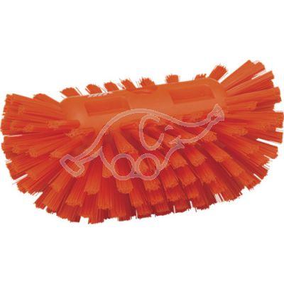 Stiff tank brush orange