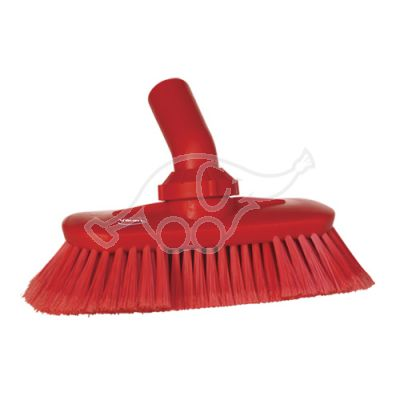 Angle adjustable brush w/waterchannel red
