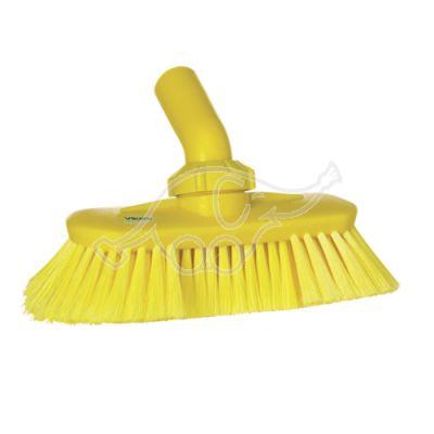 Angle adjustable brush w/waterchannel yellow