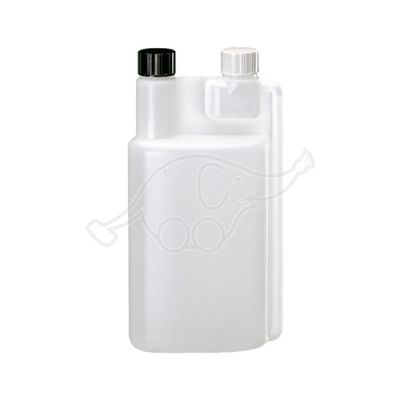 1L measuring bottle empty, refillable black cap